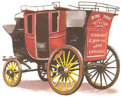 The coach, Rob Roy, ran from Leeds to Sheffield between 1835 and 1844 in conjunction with the new railways