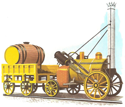 Stephenson's famous Rocket ran for six years on the Liverpool-Manchester line
