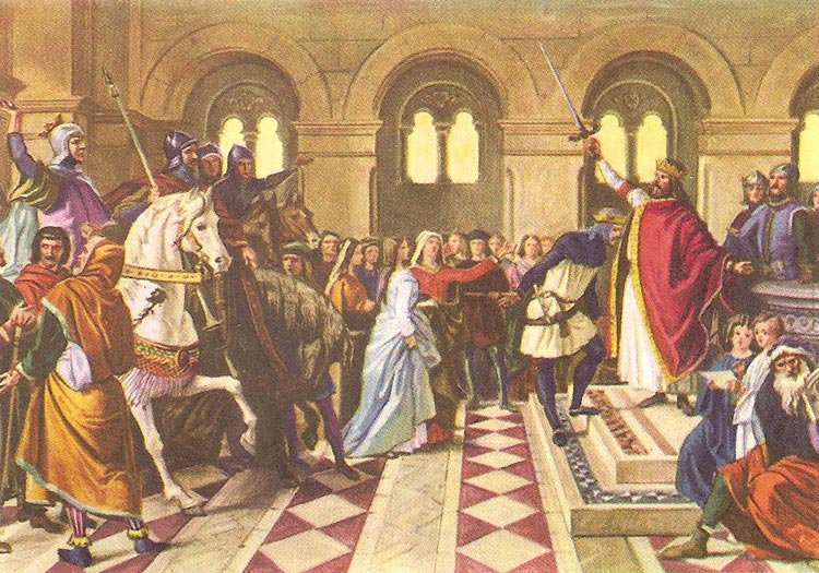Sir Tristam becomes a knight of the Round Table