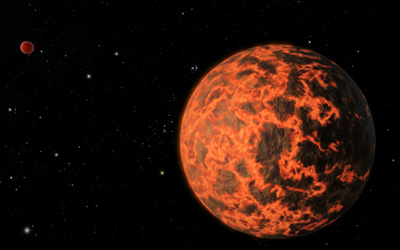 Artists's impression of the candidate exoplanet UCF-1.01
