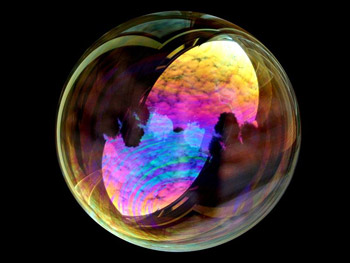 iridescent soap bubble