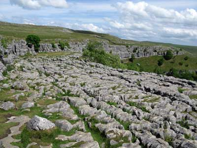 limestone pavement above Malham Cove, Yorkshire