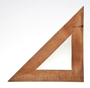 wooden set square