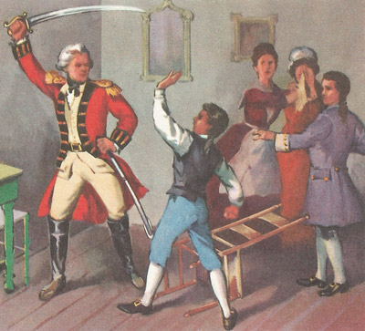 When he was a boy Jackson defied a British officer, who struck him with his saber