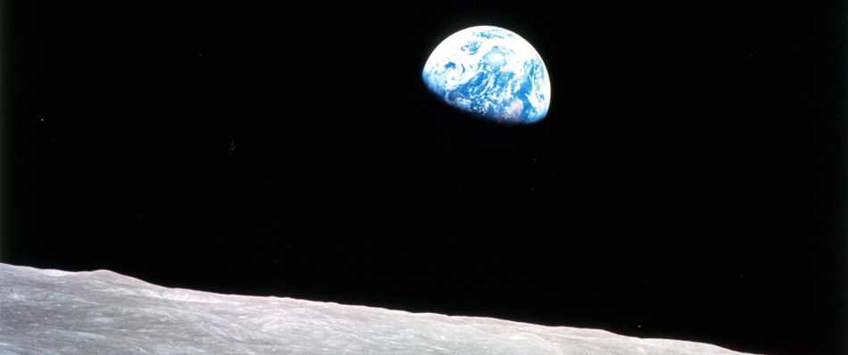 The Earth seen from Apollo 8 in lunar orbit