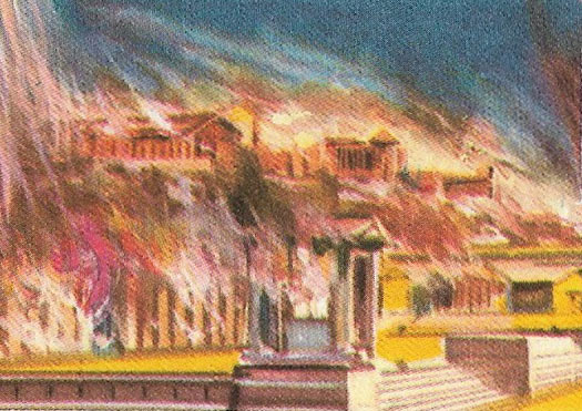 Athens burnt by the soldiers of Sulla