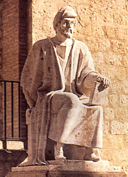 Averroes, statue in C�rdoba, Spain