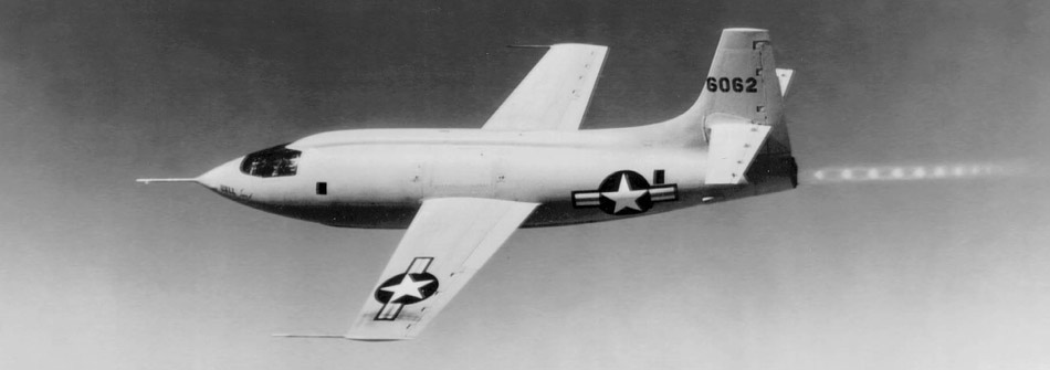 The Bell X-1 in flight