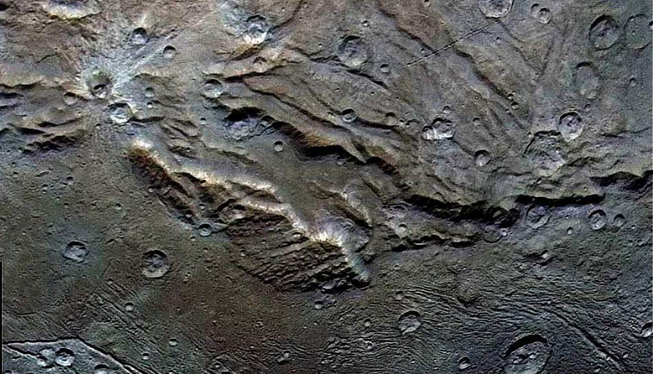 Details on Charon's surface