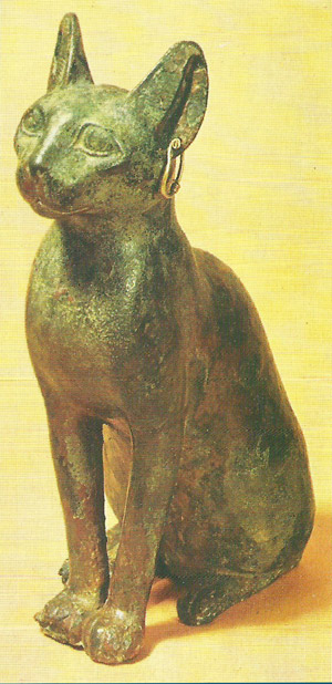 Egyptian bronze cat
