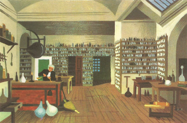 Michael Faraday's laboratory