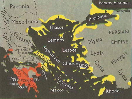 Greek city-states at the time of Pericles