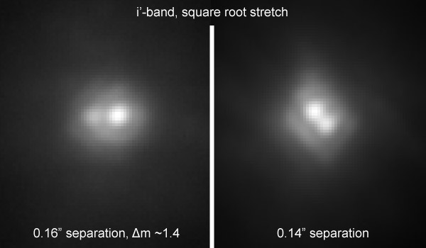 Krüger 60 imaged in the near-infrared and in z'-band by the Robo AO telescope