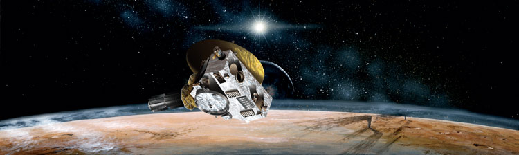 New Horizons flying past Pluto
