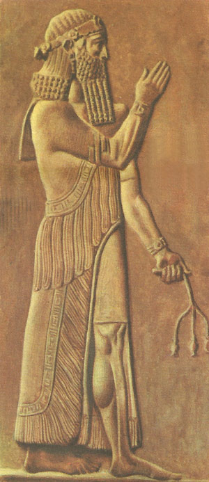 King Sargon II bas-relief