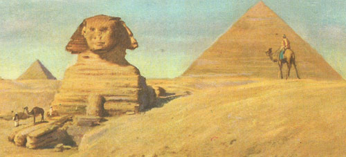 The Sphinx built in the reign of Chephren in the third millennium BC