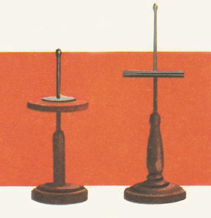 Two models of the electrophorus that Volta invented