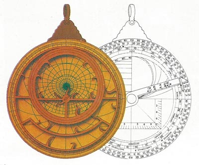 The astrolabe, invented by the Greek Hipparchus around 150 BC