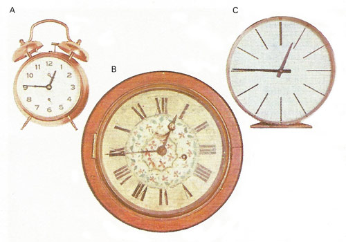 numerals on clock faces