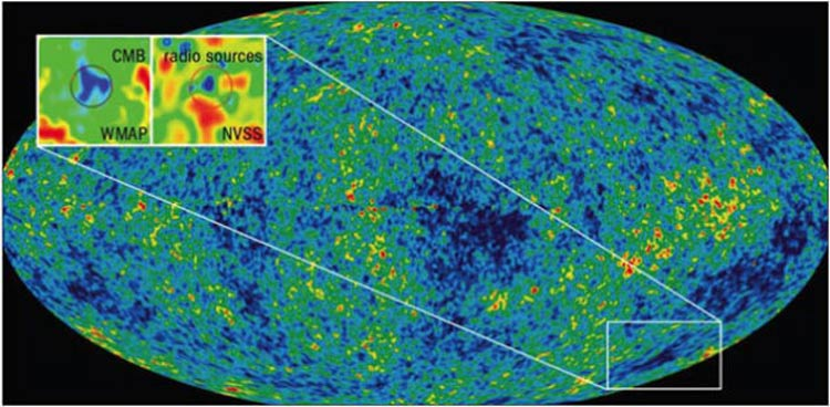 cold spot in the cosmic microwave background