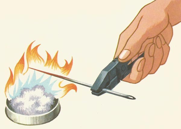 destroying magnetism by heating