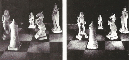 Hologram of chessmen