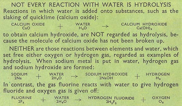 not every reaction with water is hydrolysis