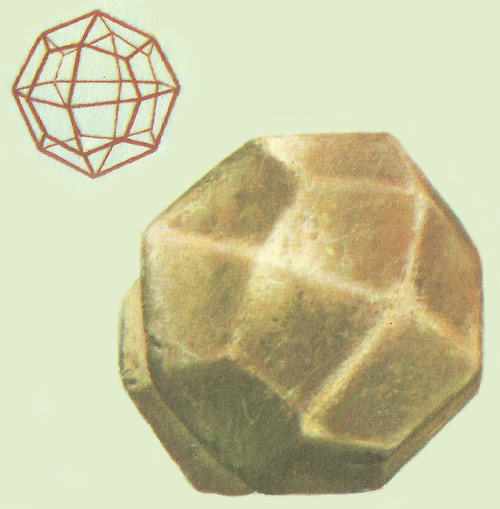 Leucite crystal and crystal structure