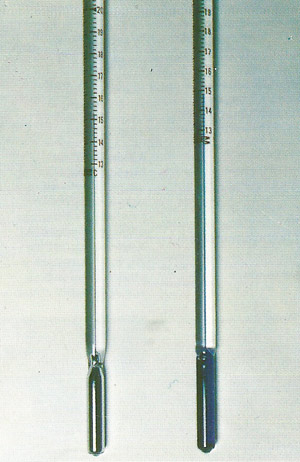 mercury and alcohol thermometers