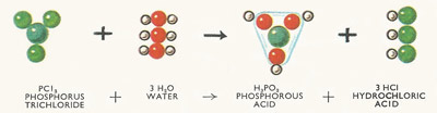 reaction between phosphorus trichloride and water