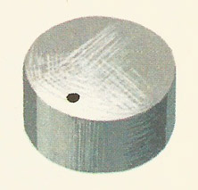 round magnet with north pole marked on