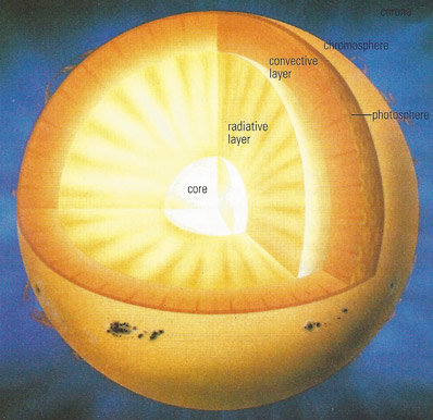 interior of the Sun, cross-section